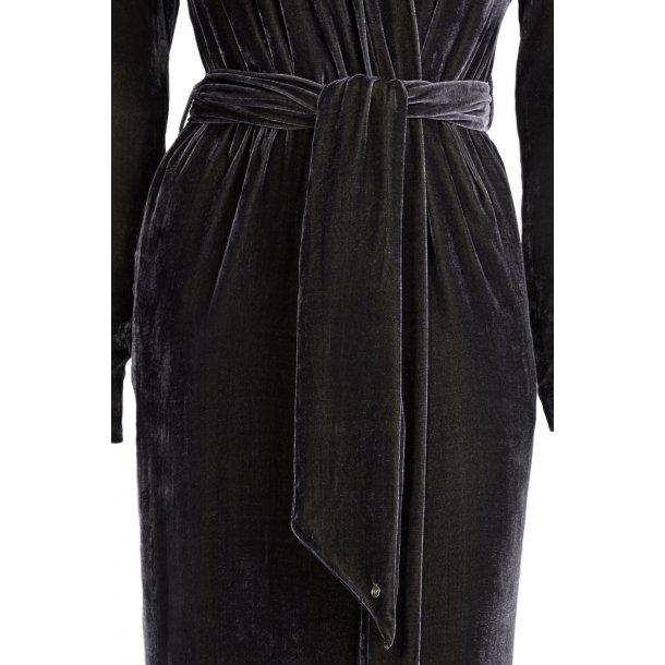 Classic Black Silk Velvet