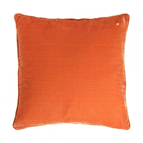 Copper silk velvet pillow