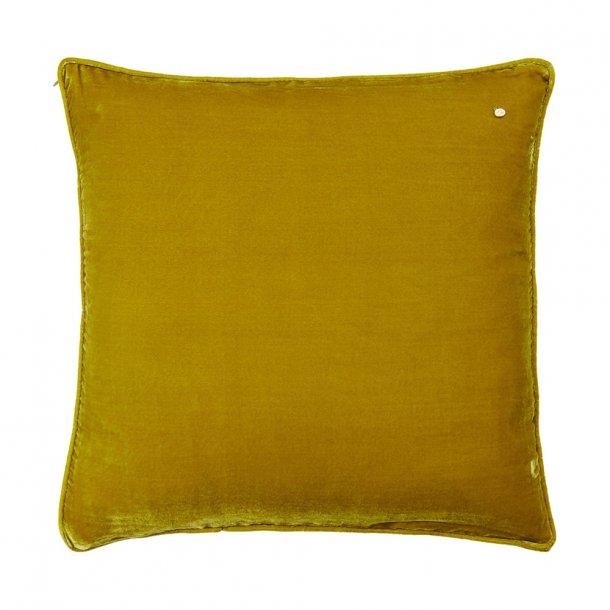 Goldenrod silk velvet pillow
