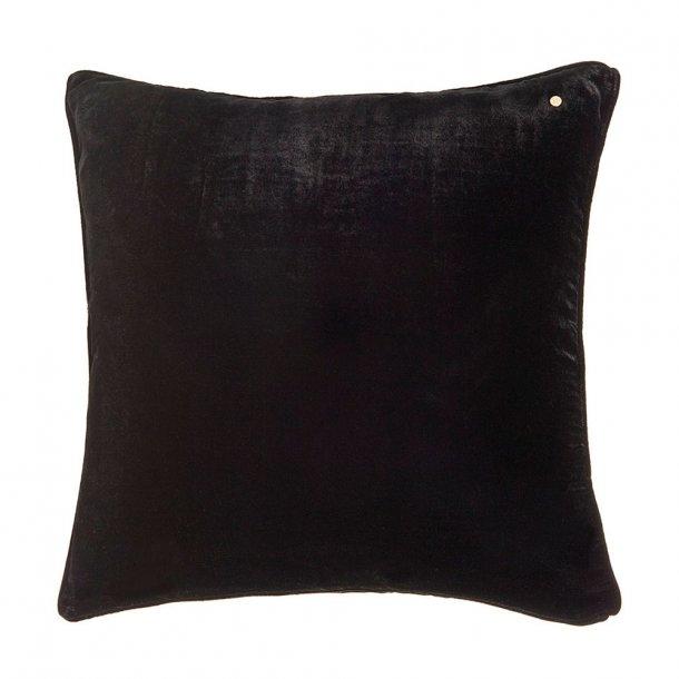 Coal silk velvet pillow