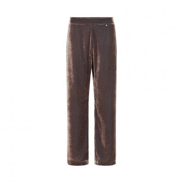 Sigrid Nougat Silk Velvet Pants