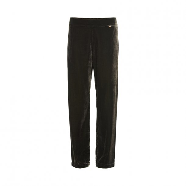 Sigrid Seaweed Silk Velvet Pants