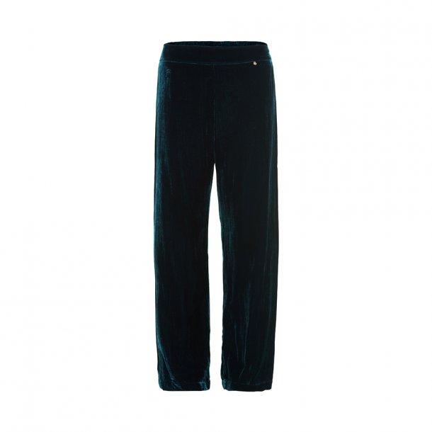 Sigrid Petrol Silk Velvet Pants