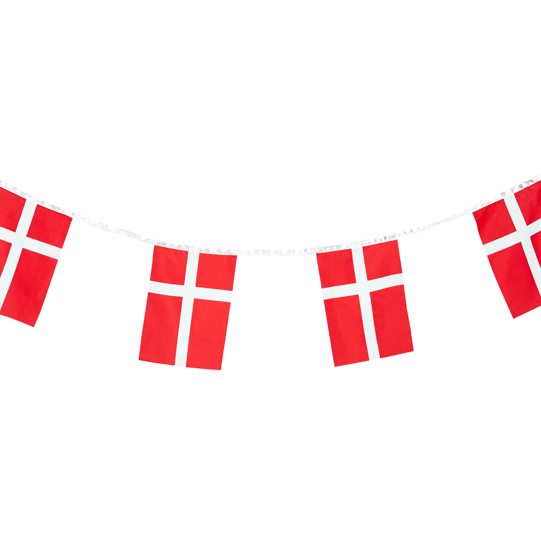 Flagranke Med Dannebrogsflag Til Festlige Lejligheder