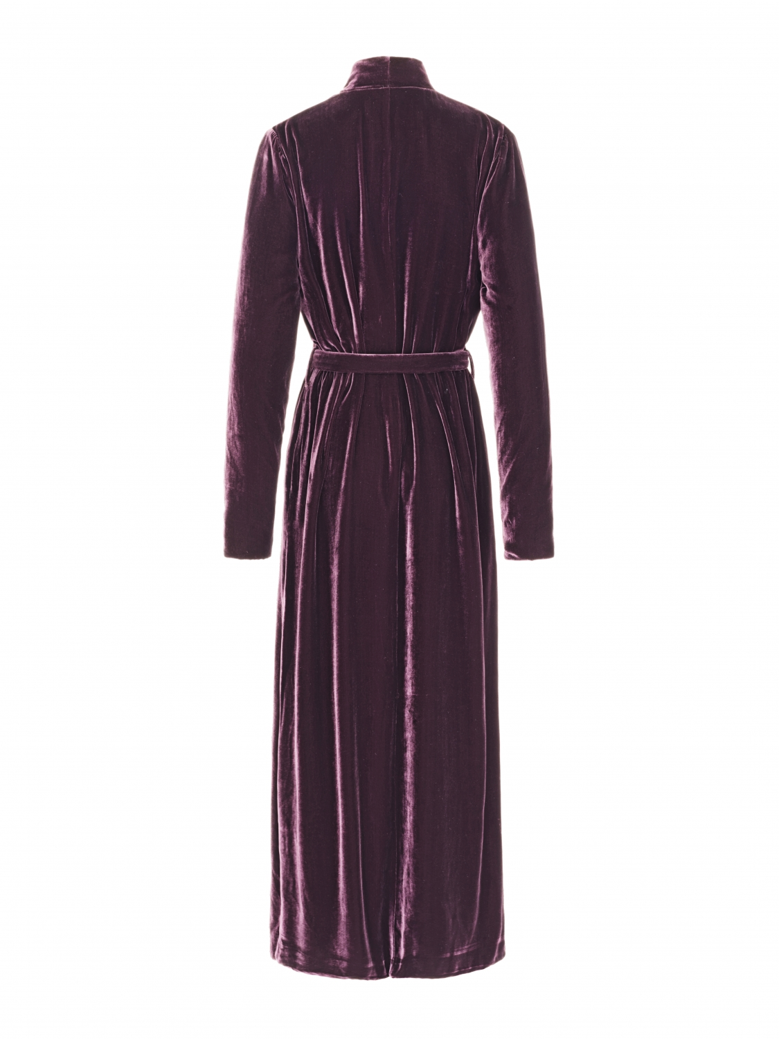 Luxury Dressing Gown Aubergine silk velvet - Shop all - Vibeke Scott
