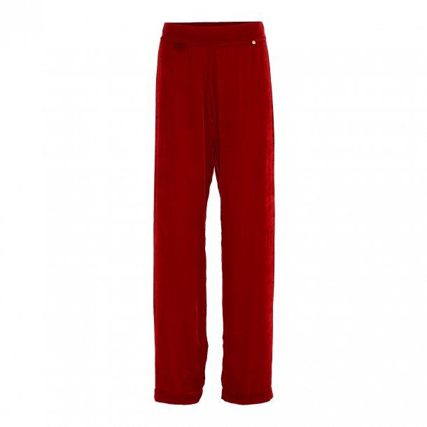 Sigrid Rouge Silk Velvet Pants