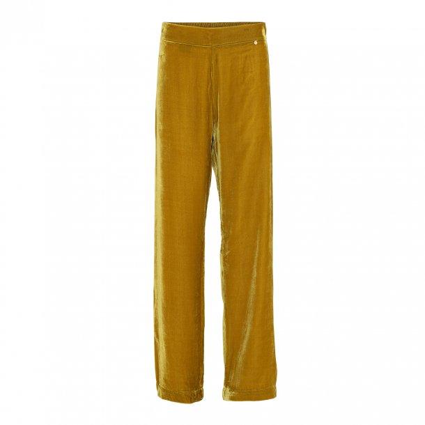 Sigrid Golden Rod Silk Velvet Pants