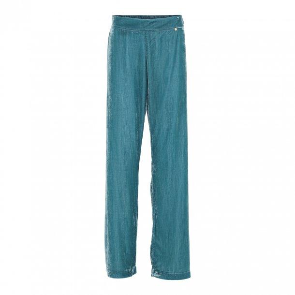 Sigrid Nordic blue Silk Velvet Pants