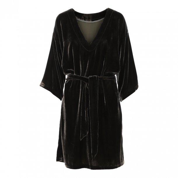 Diana Black Silk Velvet Dress