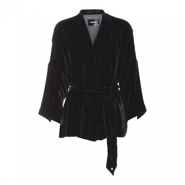 Simono Black Silk Velvet