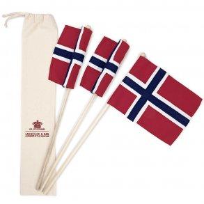 Norsk håndflagg på pinne