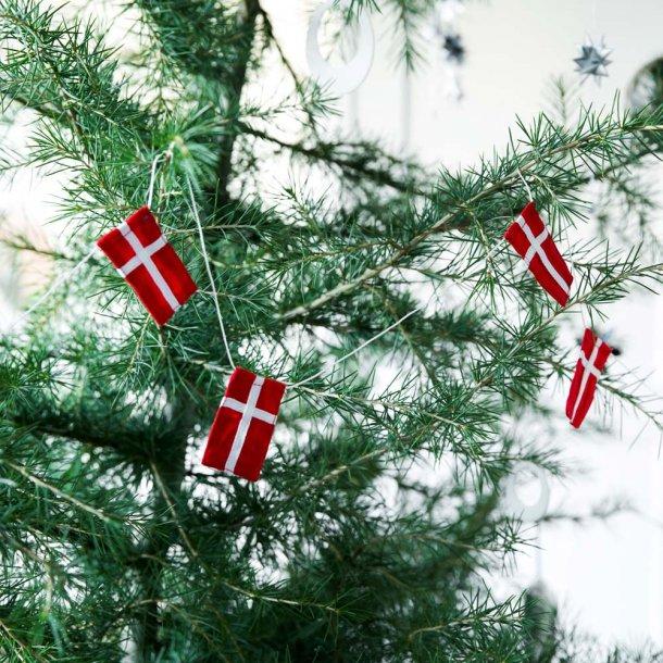 Lille flagranke med 10 dannebrogsflag